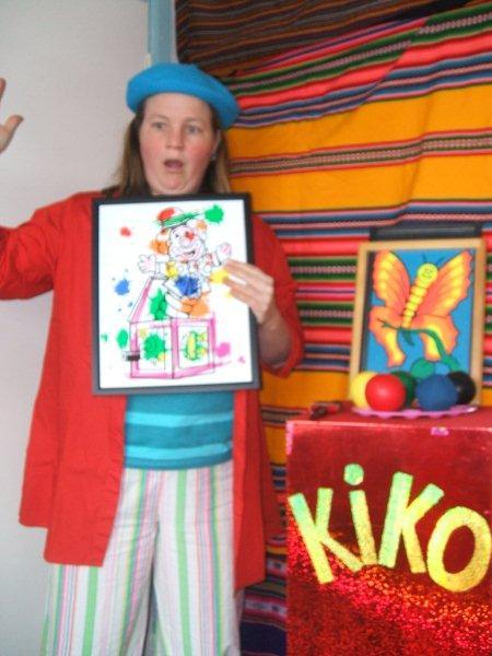 kindertheater kiko -kindervoorstelling Kikos tekenwedstrijd