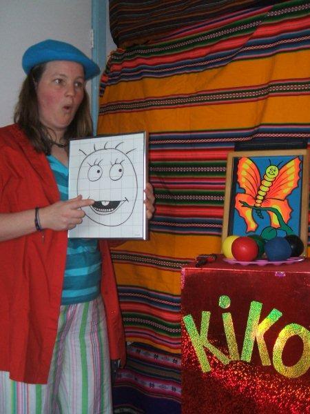 kindertheater kiko -kindervoorstelling Kikos tekenwedstrijd - een tekening begint te praten