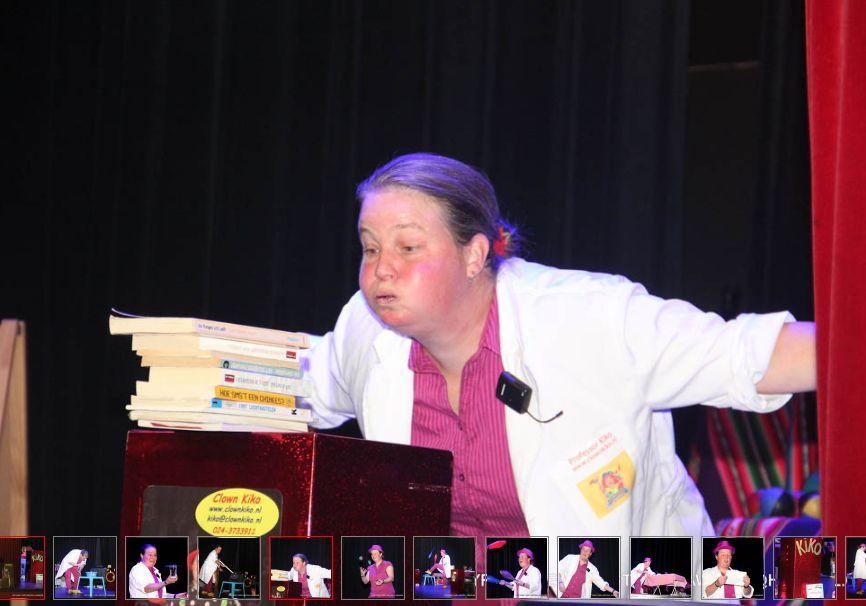 kindertheater Kiko speelt de kindervoorstelling Professor Kiko ontdekt de zwaartekracht