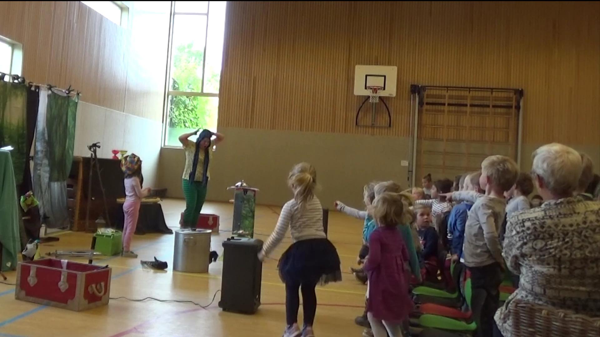 kindertheater kiko -voorstelling het griezelbos