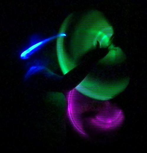 Kiko licht jongleer show - led licht jongleren ringen