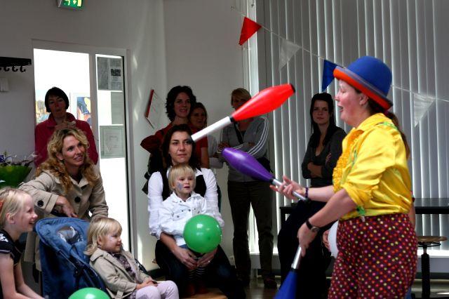Clown kiko optreden open dag opstap Nijmegen